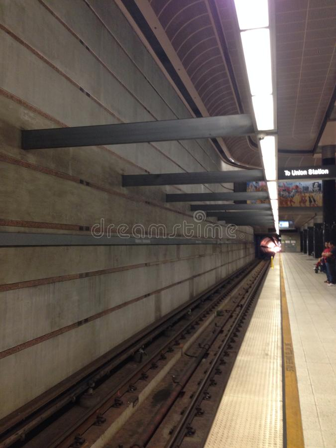 LA U-Bahnstation stockbild
