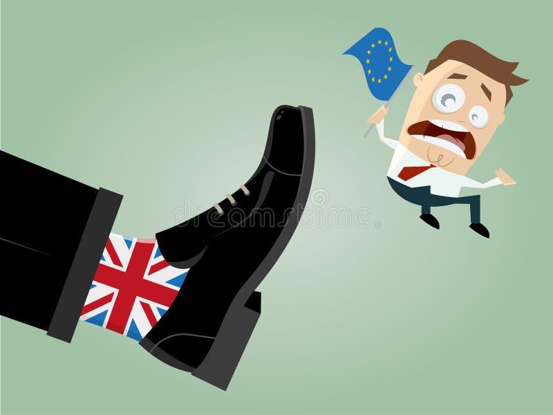 La UE de Brexit Gran Bretaña sale stock de ilustración
