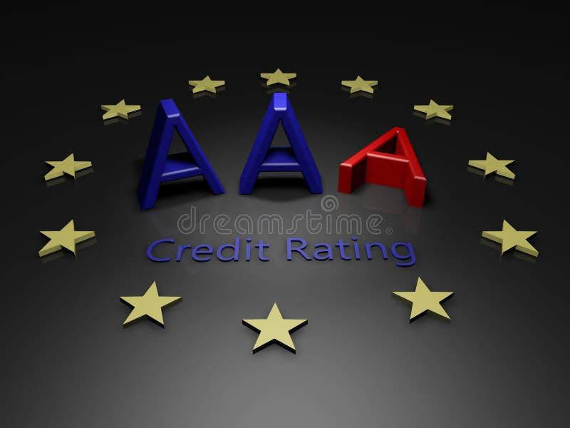 La UE pierde el grado de solvencia del AAA stock de ilustración