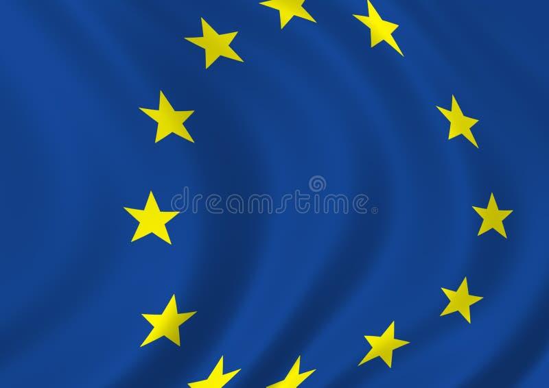 La UE señala por medio de una bandera ilustración del vector