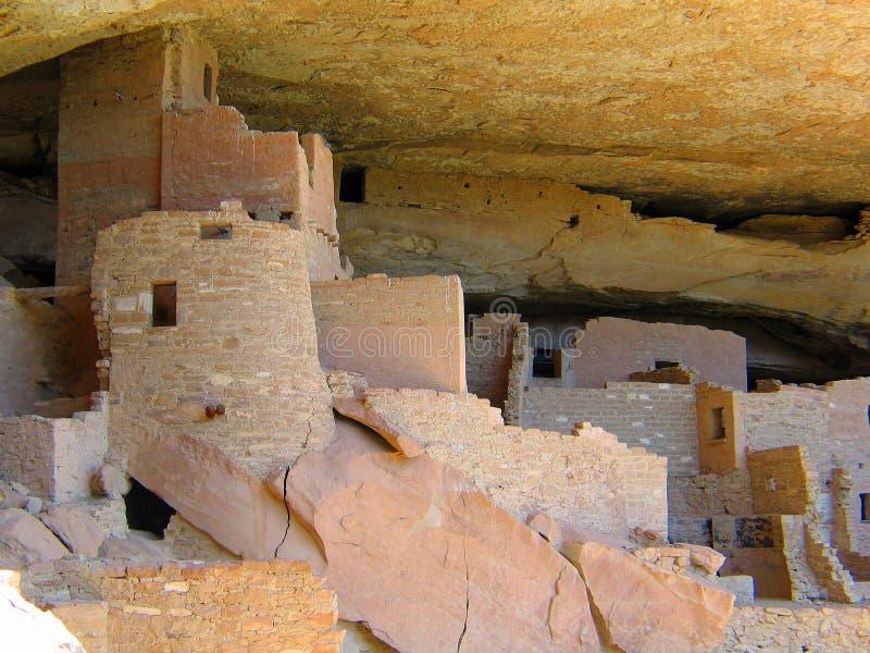 La UNESCO Cliff Dwellings de Mesa Verde fotografía de archivo libre de regalías