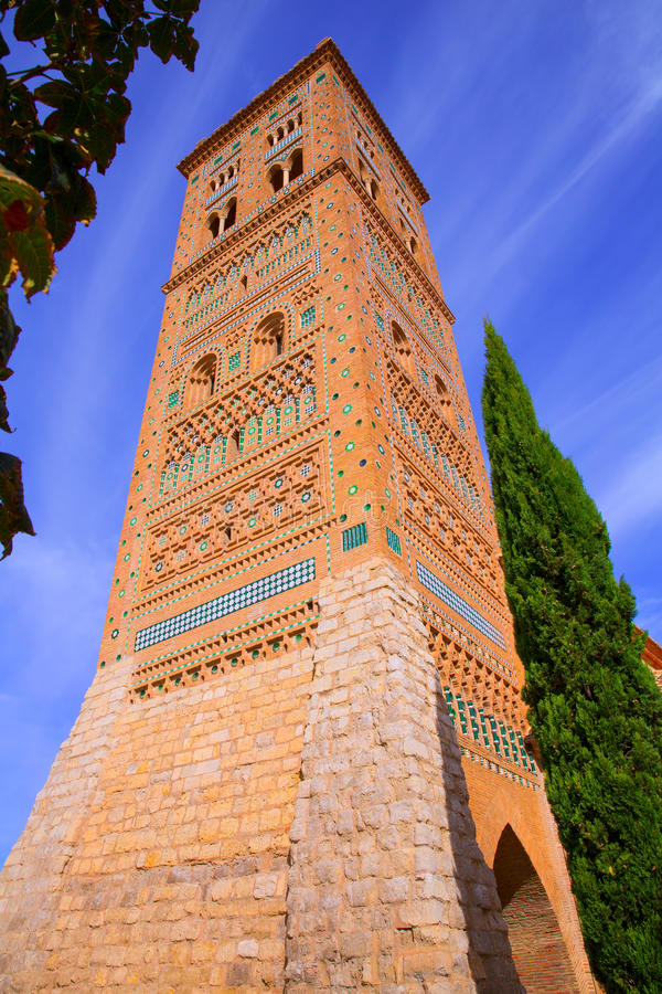 La UNESCO de Aragón Teruel Torre de San Martin Mudejar fotografía de archivo libre de regalías