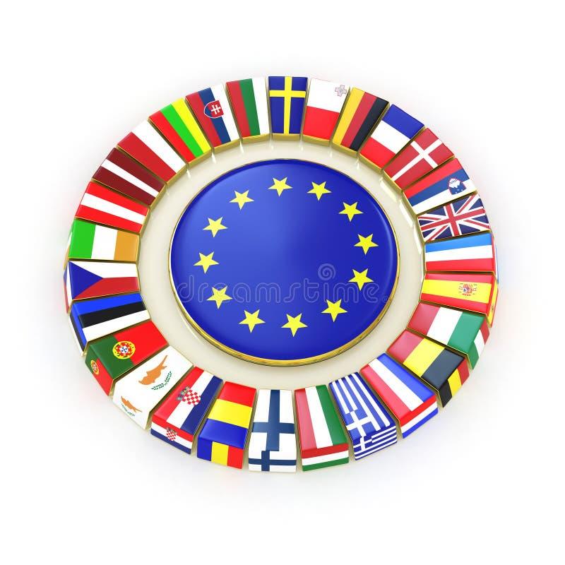 La unión europea. stock de ilustración
