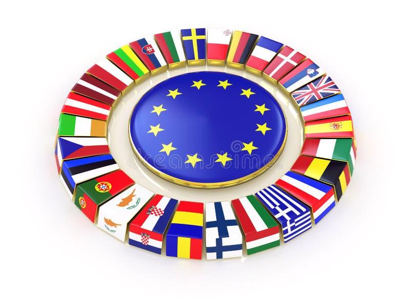 La unión europea. ilustración del vector