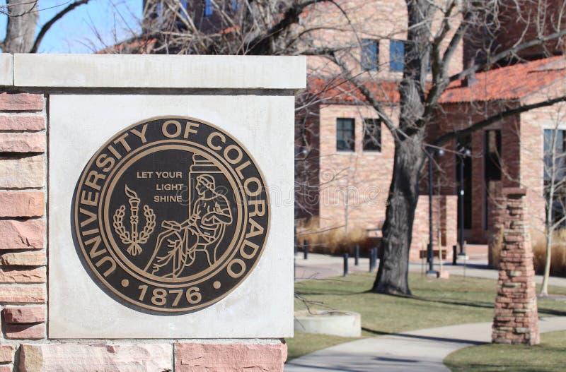 La universidad de Colorado Boulder imagen de archivo libre de regalías
