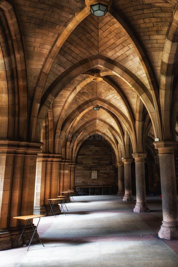 La universidad de Glasgow Cloisters imagen de archivo