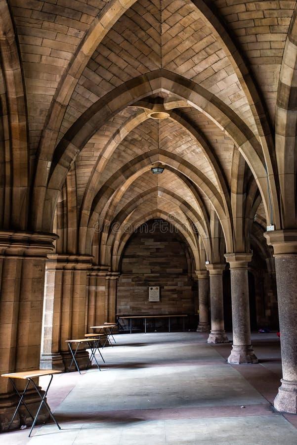 La universidad de Glasgow Cloisters imágenes de archivo libres de regalías