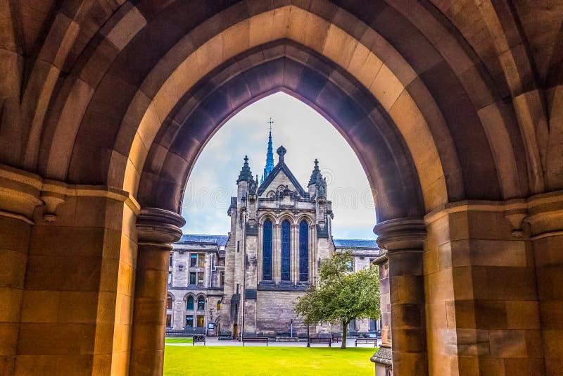 La universidad de Glasgow Cloisters foto de archivo