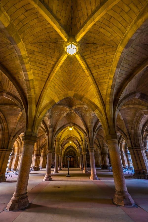 La universidad de Glasgow Cloisters, Glasgow fotos de archivo