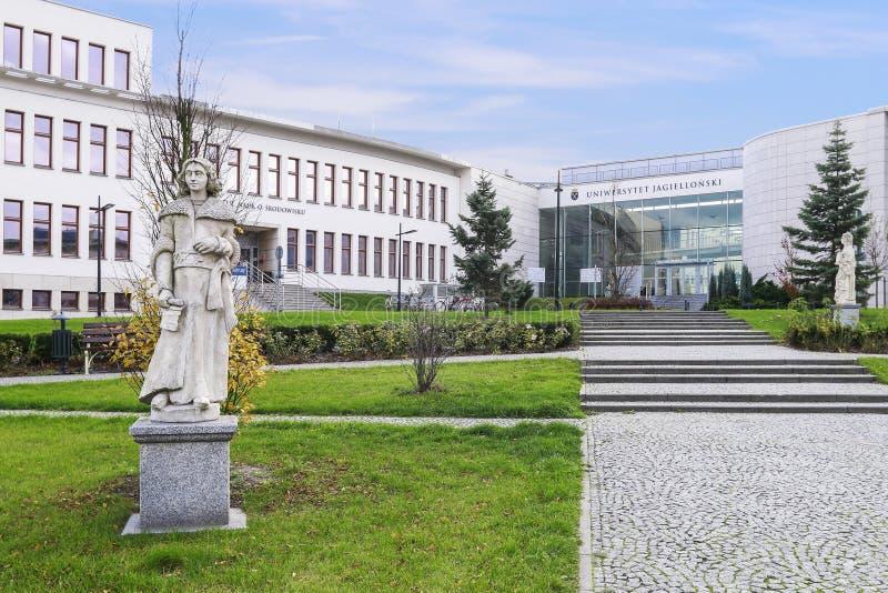 La universidad de Jagiellonian Edificios modernos del campus en Krak?w, Polonia imágenes de archivo libres de regalías