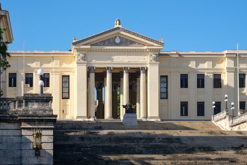 La universidad de La Habana en Cuba fotografía de archivo