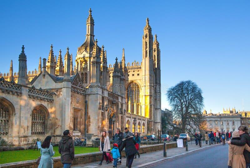 La universidad del rey (comenzada en 1446 por Henry VI) Edificios históricos, Cambridge imagen de archivo libre de regalías