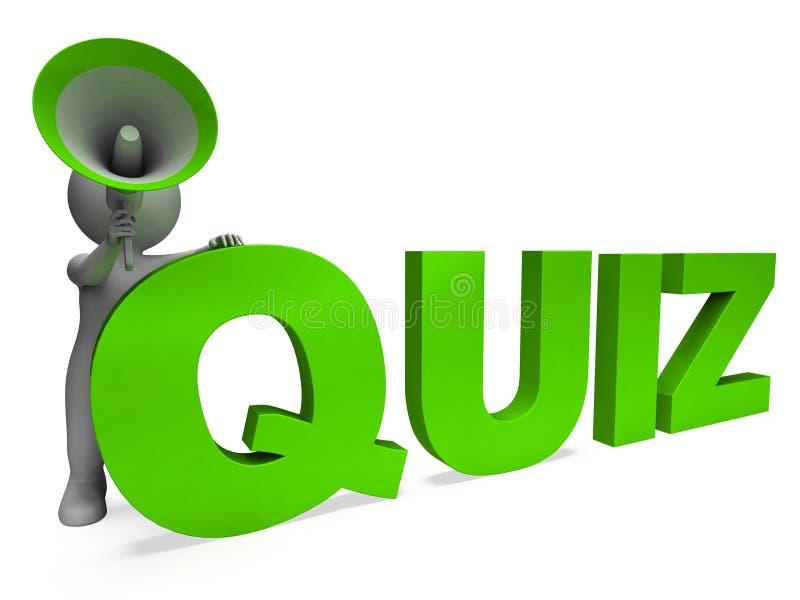 La vérification des moyens de caractère de jeu-concours remet en cause des réponses ou l'interrogation illustration de vecteur
