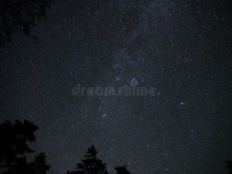 La vía láctea protagoniza la galaxia M31 del Andromeda de la constelación del cassiopeia imagenes de archivo