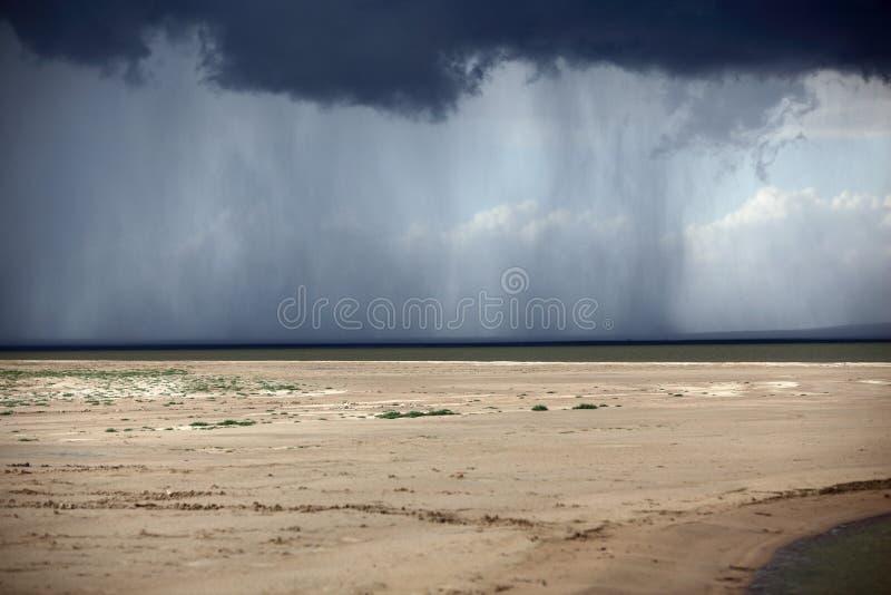 La víspera de la tempestad de la lluvia imagen de archivo libre de regalías