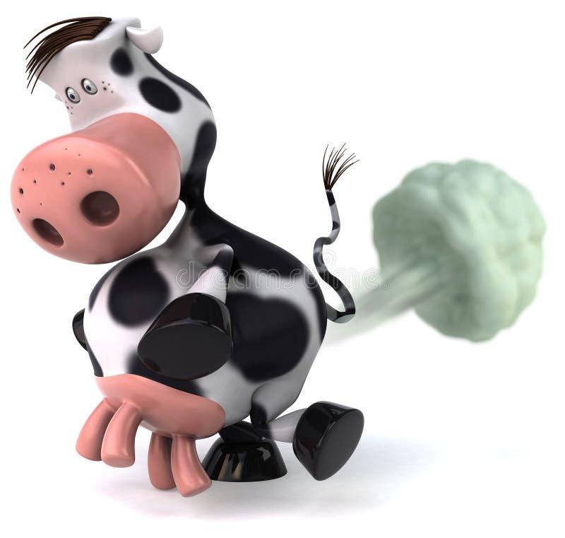 La vaca linda fart stock de ilustración