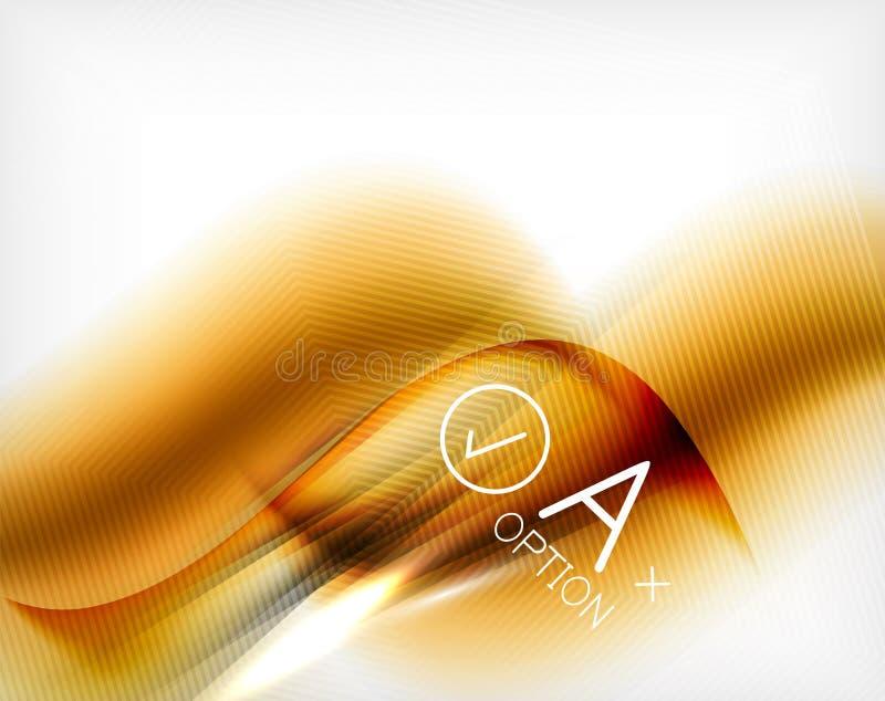 La vague a conçu l'affiche d'affaires dans la couleur orange illustration de vecteur