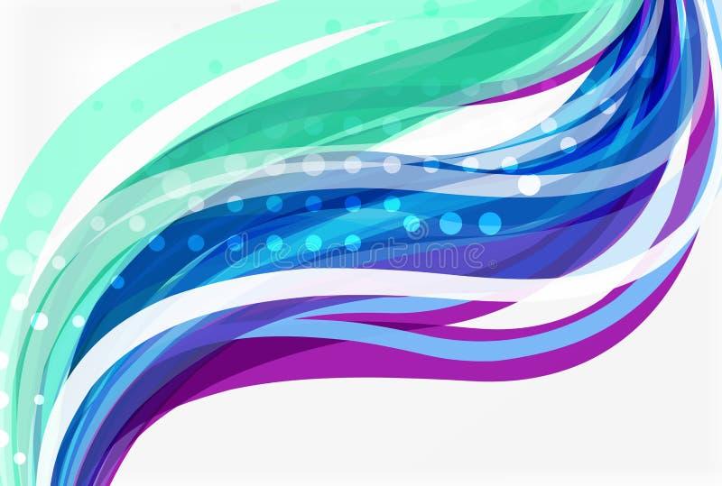 La vague de couleur de vecteur garnit de l'effet pointillé sur le fond clair illustration libre de droits