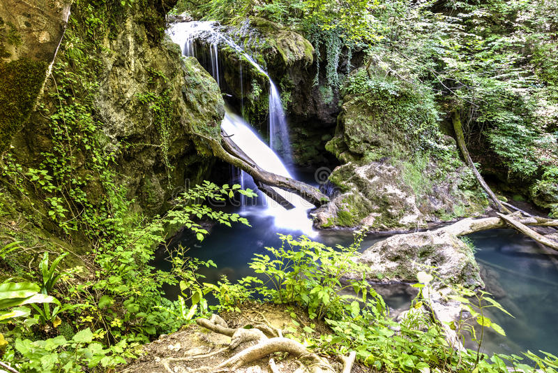 La Vaioaga waterfall royalty free stock photo