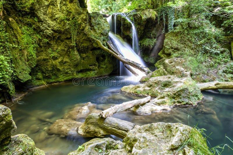 La Vaioaga waterfall stock photography