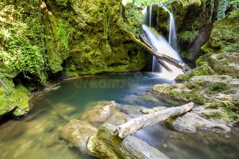 La Vaioaga waterfall stock photo