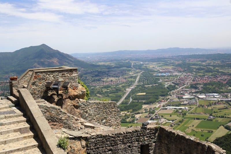 La Val di Susa di Piemonte, Italia fotografie stock libere da diritti