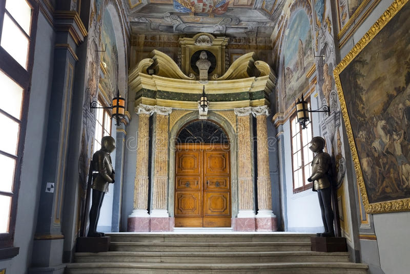 La Valeta, Malta 31 de octubre de 2015: El palacio del Grandmaster fotos de archivo libres de regalías