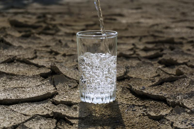 La valeur de l'eau propre photo stock