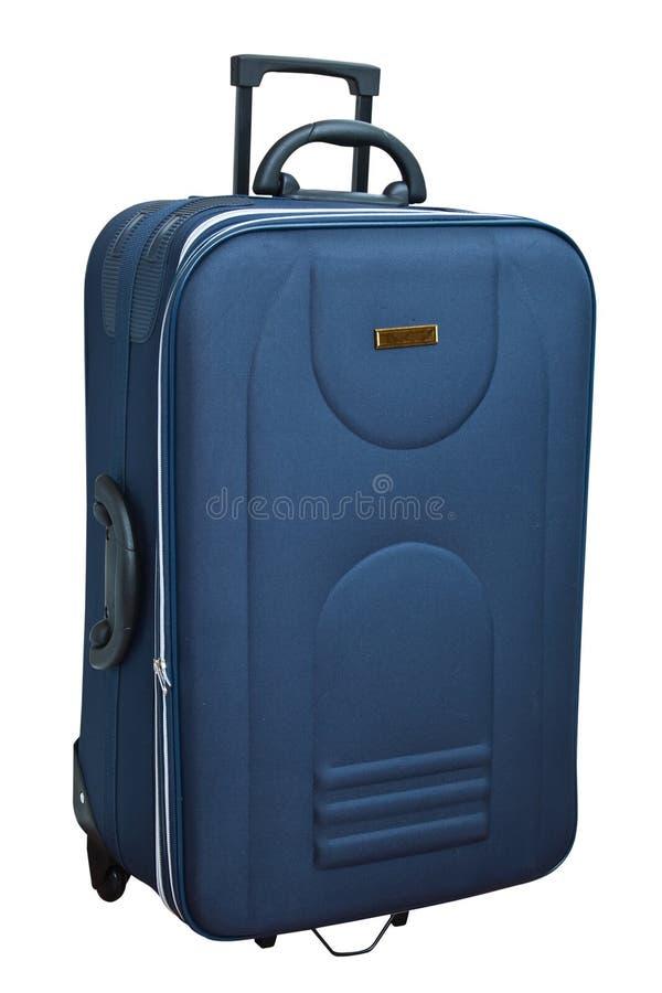 La valise bleue photographie stock libre de droits