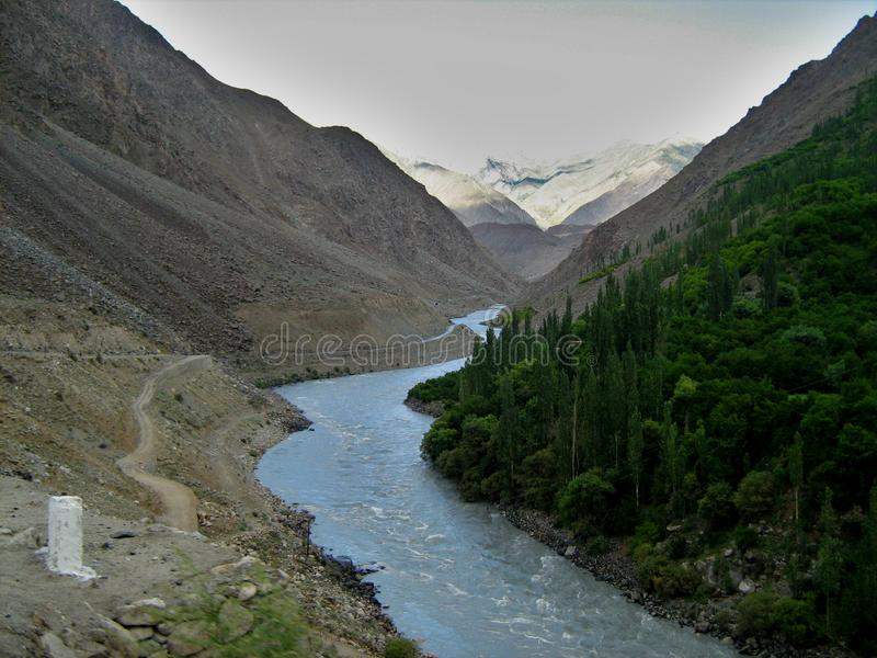 La vallée de Leh Ladakh photo libre de droits