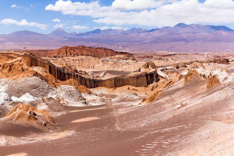La vallée de lune au Chili images stock