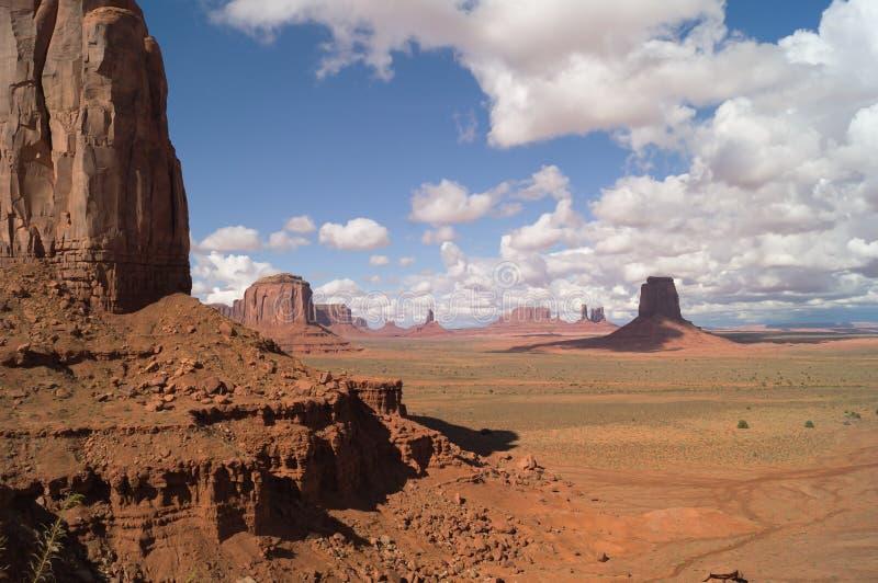 La vallée de monument, Utah-Arizona, Etats-Unis photographie stock libre de droits