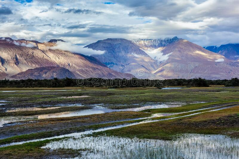 La vallée de Nubra, Ladakh, Inde photographie stock