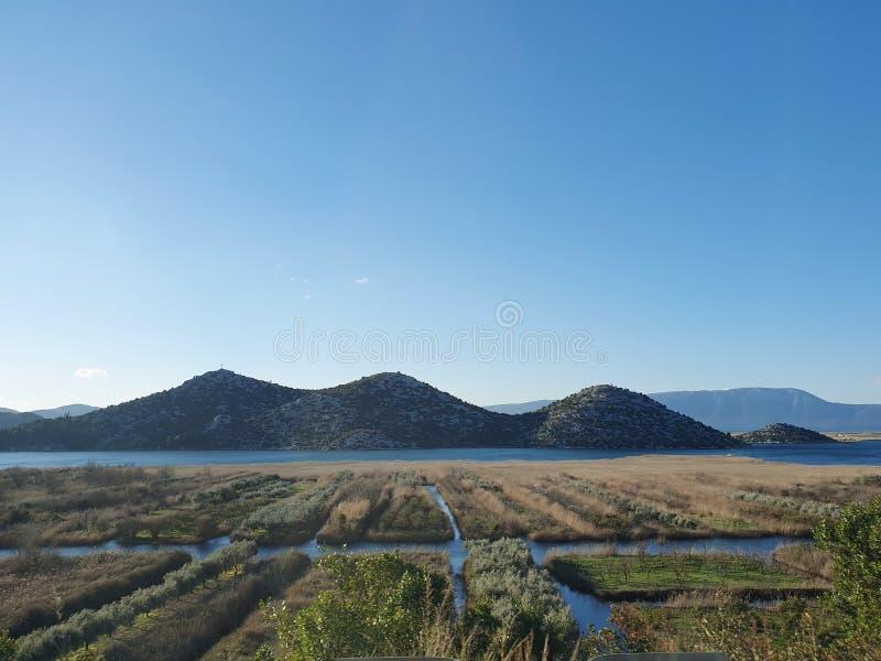 La valle di Neretva fotografie stock libere da diritti