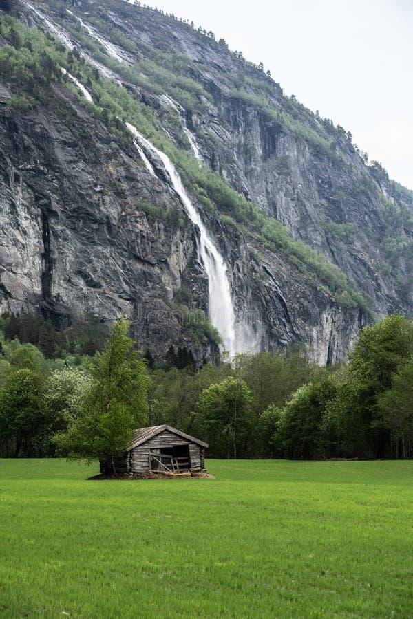 La valle di Romsdalen in Norvegia fotografia stock