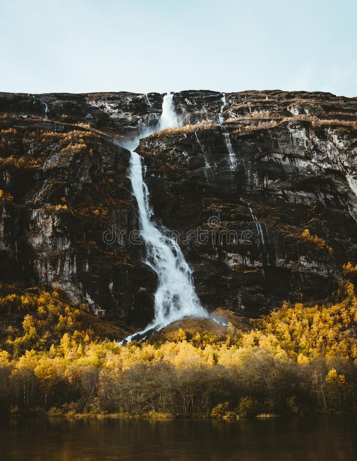 La valle di Romsdalen in Norvegia immagine stock