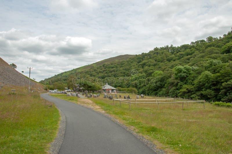 La valle di slancio nel summetime di Galles, Regno Unito fotografia stock
