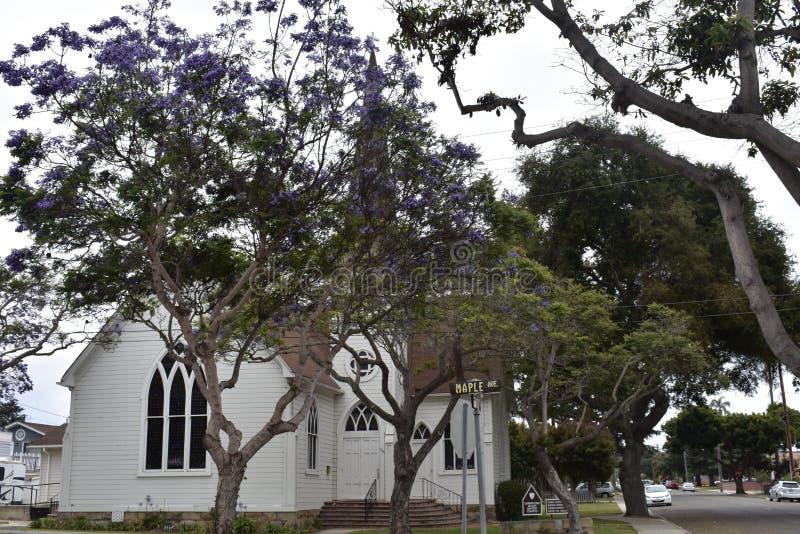 La valle storica Baptist Church, 3 di Carpinteria fotografia stock libera da diritti