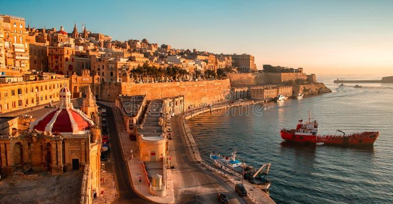 La Valletta al primo mattino immagine stock libera da diritti