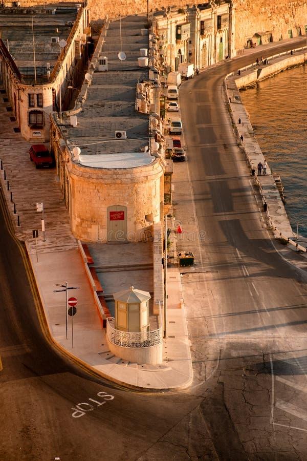 La Valletta al primo mattino fotografie stock