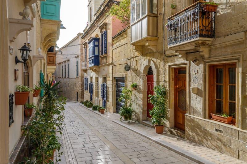 La Valletta, Malta - giugno 2018: Bella architettura a La Valletta immagini stock libere da diritti