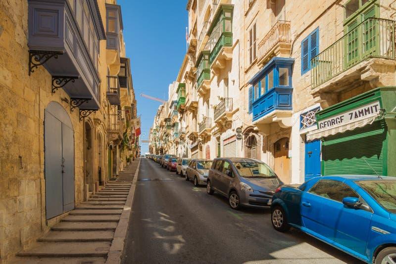 La Valletta, Malta - 5 maggio 2016: Dalle vie e dai vicoli della V fotografia stock