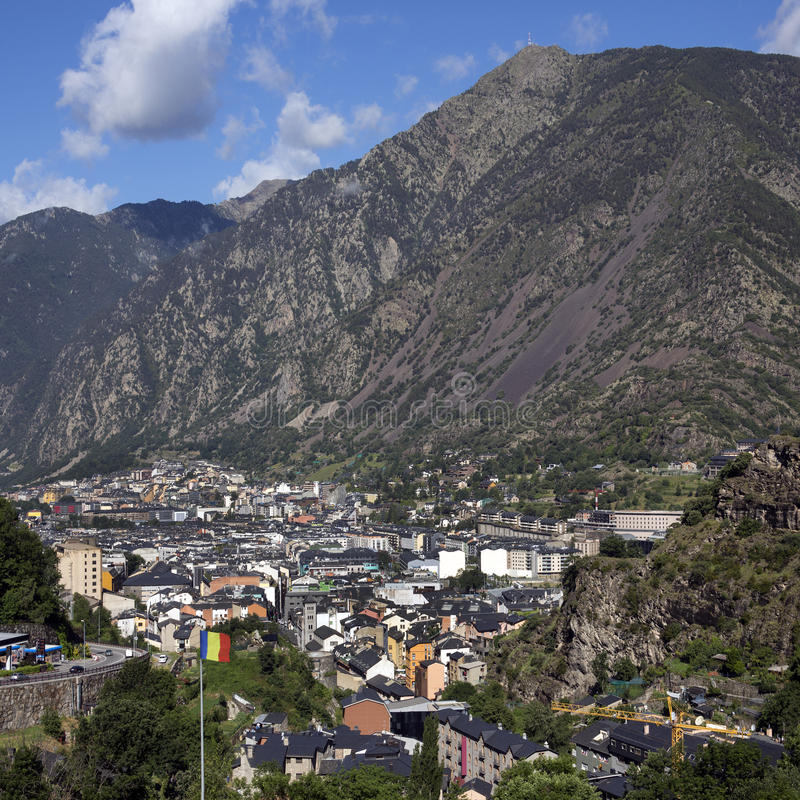 La van Andorra Vella - Andorra royalty-vrije stock fotografie