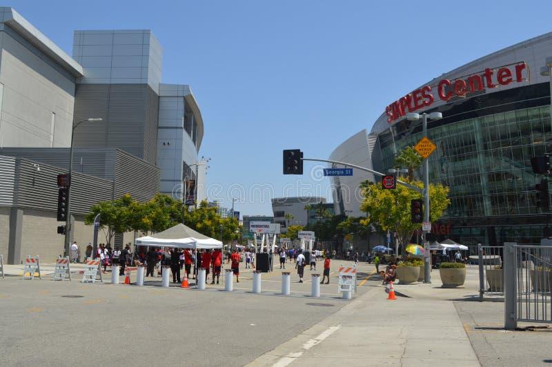 La Van de binnenstad van Staples Center royalty-vrije stock fotografie