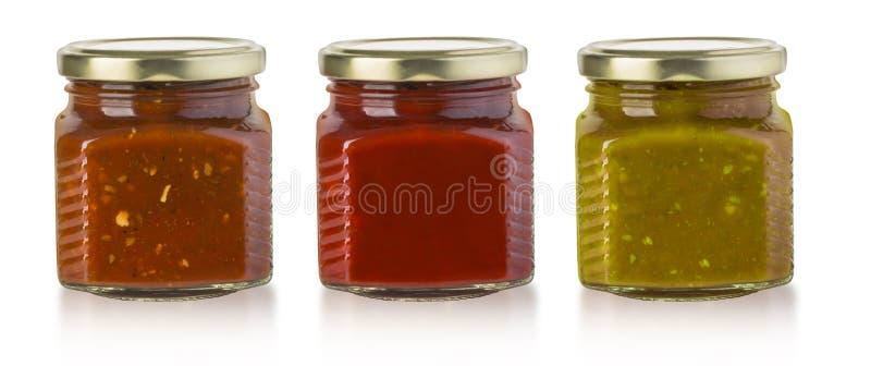 La varia salsa barbecue fotografia stock libera da diritti