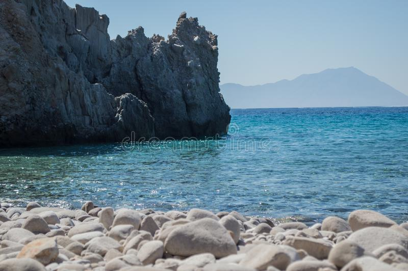 La variedad de Milos Island fotografía de archivo