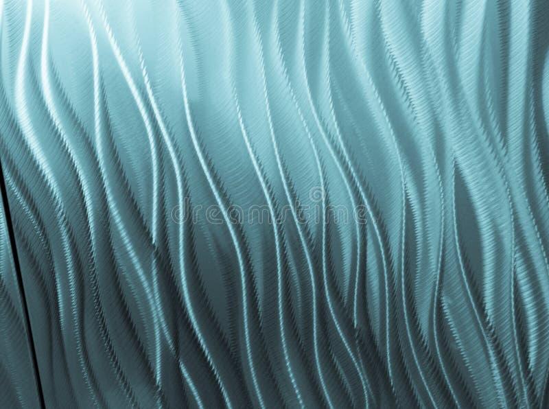 La varietà di linee e le curve formano il modello blu astratto immagini stock libere da diritti