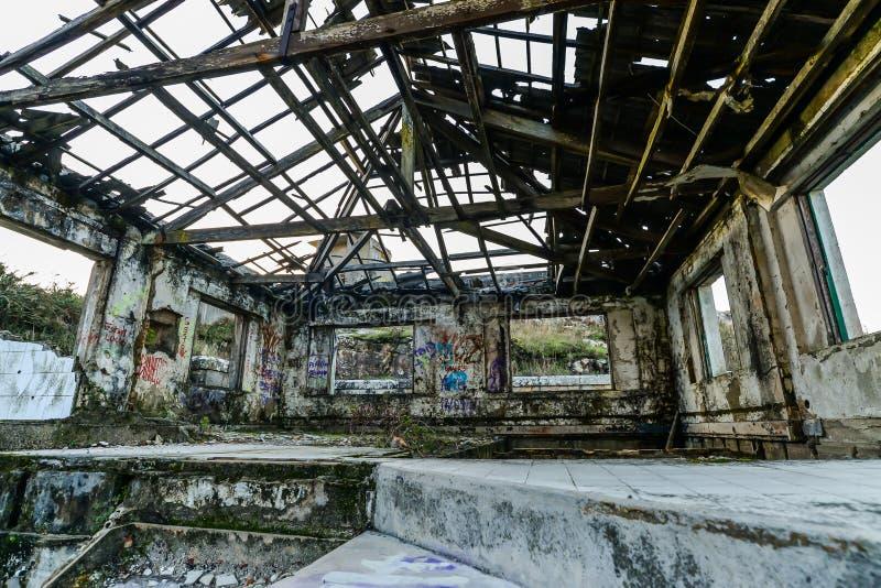 La vecchia base militare - Baiona fotografia stock