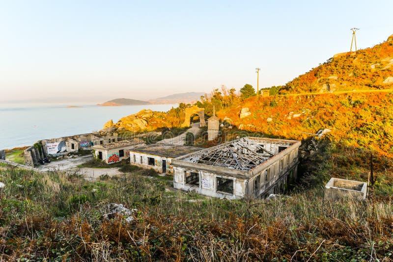La vecchia base militare - Baiona immagine stock