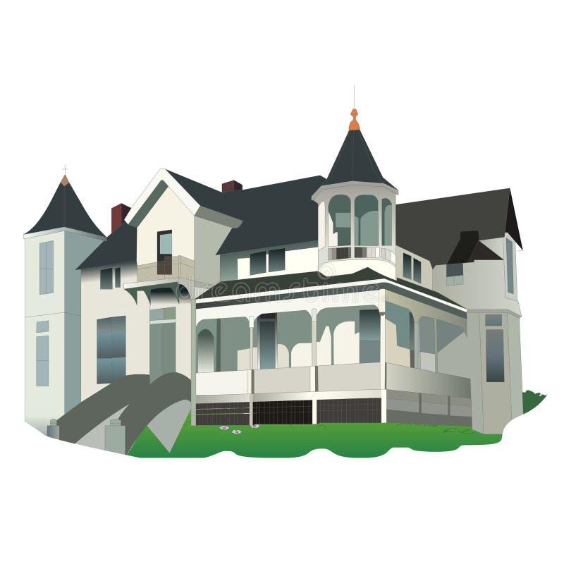 La vecchia Casa Bianca Helloween fotografia stock